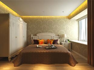 ,130平,6万,欧式,三居,卧室,原木色,