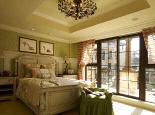 ,600平,120万,欧式,别墅,卧室,绿色,
