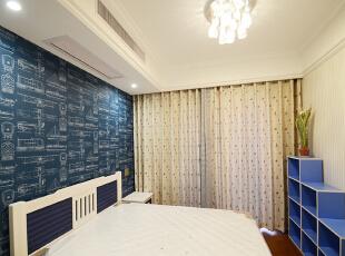 ,179平,17万,欧式,三居,卧室,蓝色,白色,