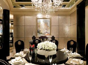 ,400平,100万,欧式,别墅,餐厅,黑白,