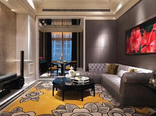 ,400平,100万,欧式,别墅,客厅,春色,