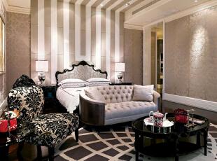 ,400平,100万,欧式,别墅,卧室,黑白,