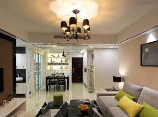 ,110平,7万,现代,三居,客厅,黑白,