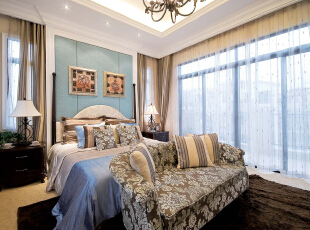 ,490平,126万,地中海,别墅,泰禾·北京院,卧室,黑白,