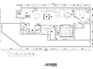 郑州清水苑260平挑高复式现代简约风格装修——平面户型图由美巢装饰设计师设计,260平,20万,现代,复式,