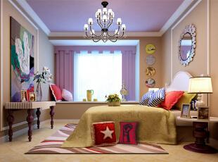 ,109平,11万,简约,三居,卧室,黄色,紫色,