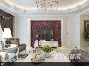 ,164平,10万,欧式,三居,客厅,白色,
