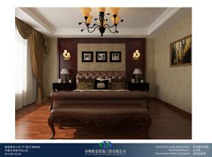 ,260平,42万,大户型,美式,卧室,原木色,