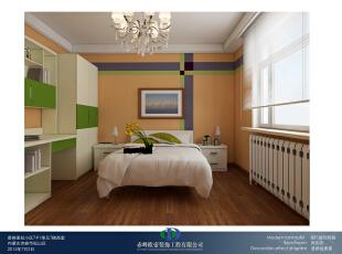 ,260平,42万,大户型,美式,卧室,黄色,