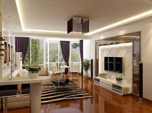 ,136平,11万,混搭,三居,客厅,白色,原木色,