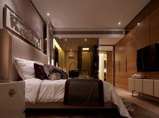 ,207平,25万,中式,三居,卧室,原木色,