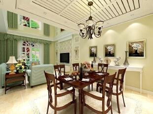 融科伍杄岛别墅欧式风格装修案例,欧式,融科伍杄岛别墅,别墅装修,欧式风格,客厅,绿色,