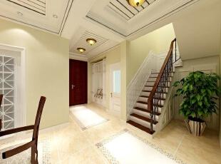 融科伍杄岛别墅欧式风格装修案例,欧式,融科伍杄岛,别墅装修,玄关,白色,