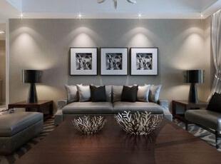 ,126平,15万,现代,三居,客厅,白色,原木色,黑白,