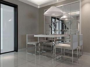 ,126平,15万,现代,三居,餐厅,白色,黑白,