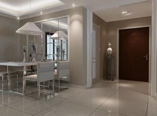 ,126平,15万,现代,三居,餐厅,白色,原木色,黑白,