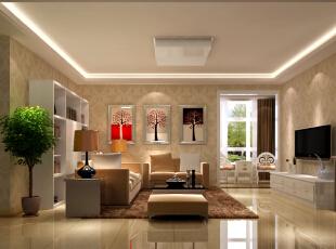 客厅作为待客区域,一般要求简洁明快,同时装修较其它空间要更明快光鲜。,218平,50万,美式,三居,客厅,黄色,