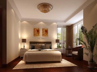 美式家居的卧室布置较为温馨,作为主人的私密空间,主要以功能性和实用舒适为考虑的重点,一般的卧室不设顶灯,多用温馨柔软的成套布艺来装点,同时在软装和用色上非常统一。,218平,50万,美式,三居,卧室,白色,原木色,