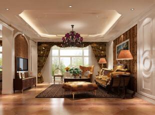 ,190平,7万,欧式,公寓,客厅,黄色,