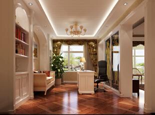 ,190平,7万,欧式,公寓,简约,美式,书房,白色,