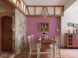 ,128平,15万,欧式,三居,客厅,粉色,