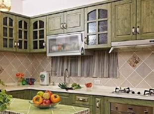 ,128平,15万,欧式,三居,厨房,绿色,