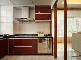 ,厨房,白色,红色,