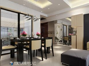 ,131平,12万,中式,四居,餐厅,黑白,