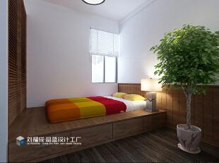 ,155平,15万,日式,四居,卧室,原木色,