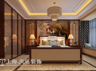 ,177平,16万,中式,四居,卧室,原木色,