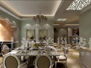 中原新城120平三室两厅简欧风格入户门装修效果图,120平,15万,欧式,三居,餐厅,白色,