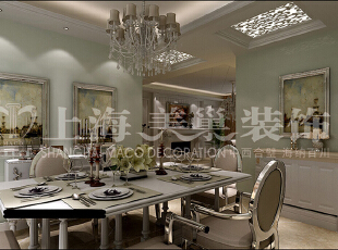中原新城120平三室两厅简欧风格餐厅装修效果图,120平,15万,欧式,三居,餐厅,白色,