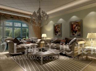 中原新城120平三室两厅简欧风格客厅沙发背景墙装修效果图,120平,15万,欧式,三居,客厅,春色,