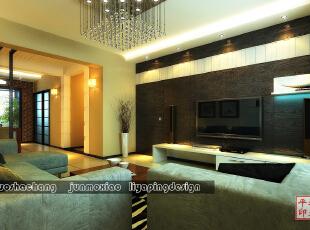 ,160平,40万,现代,三居,客厅,黑白,