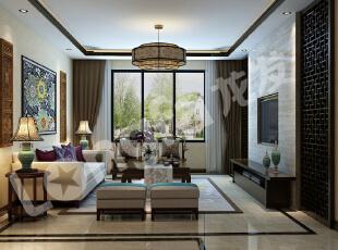,138平,6万,中式,三居,客厅,黑白,
