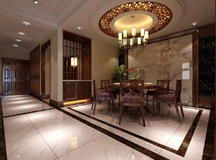 ,320平,40万,中式,别墅,餐厅,原木色,