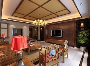 ,320平,40万,中式,别墅,客厅,原木色,