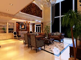 ,180平,18万,欧式,复式,客厅,黑白,