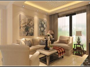 ,89平,60800万,现代,两居,客厅,黑白,
