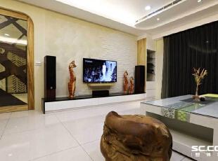 ,128平,16万,现代,三居,客厅,原木色,黑白,