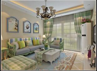 ,100平,66800万,现代,一居,客厅,春色,