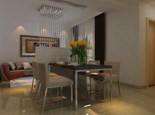 餐厅装修效果图,91平,6万,现代,两居,餐厅,原木色,