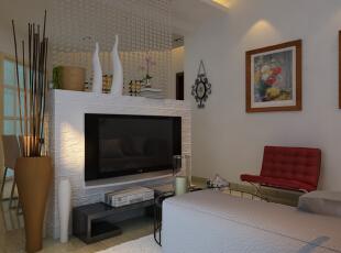客厅装修效果图,91平,6万,现代,两居,客厅,原木色,