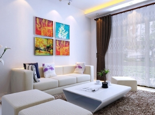 客厅装修效果图,89平,6万,现代,三居,客厅,原木色,黑白,小资,