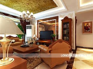 ,150平,10万,欧式,三居,客厅,黄色,