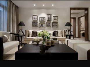 ,130平,5万,现代,三居,客厅,黑白,