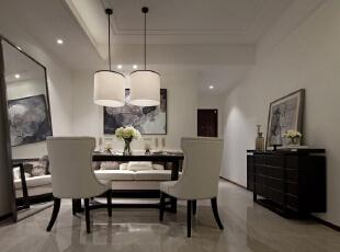 ,130平,5万,现代,三居,餐厅,黑白,