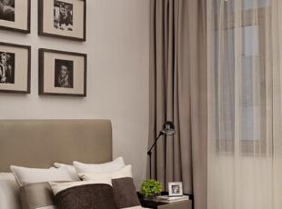,130平,5万,现代,三居,卧室,黑白,