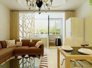 ,65平,5万,现代,小户型,客厅,餐厅,白色,