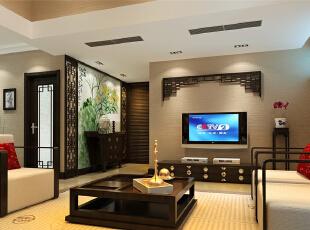 ,180平,35万,中式,别墅,客厅,黑白,
